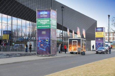 Photo pour Katowice, Pologne - 5 mars 2017: Intel Extreme Masters eSport tournoi International Convention Centre à Katowice. Les joueurs ont concouru dans League of Legends, Counterstrike et Starcraft 2. - image libre de droit