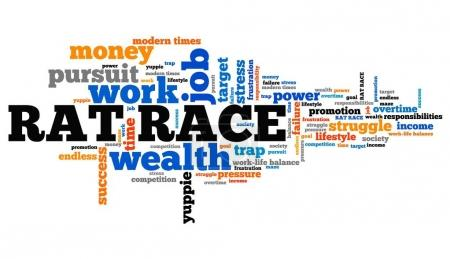 Rat race - word cloud illustration