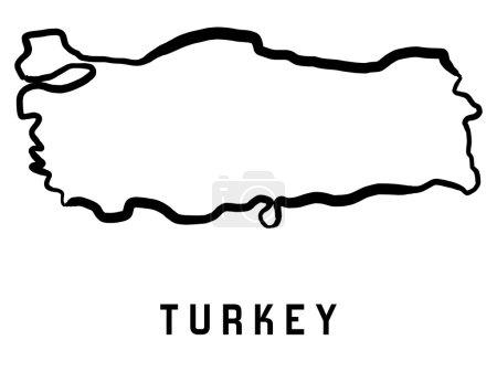 Turkey map - vector shape