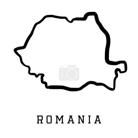 Romania shape map