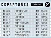 Airport timetable - vector illustration