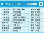 Departures vector sign