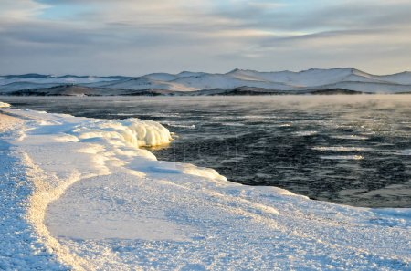Ice floes floating on the
