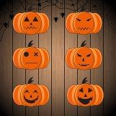 Set of halloween pumpkin vector object