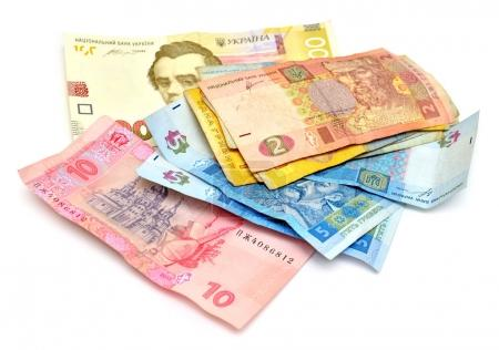 Money banknotes of Ukraine hryvnia