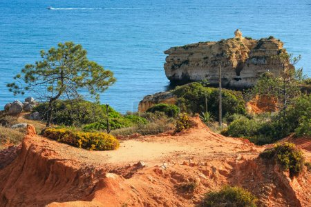 Summer Atlantic coast view (Albufeira, Portugal).