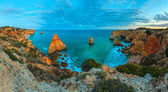 Evening Atlantic coastline, Algarve, Portugal.