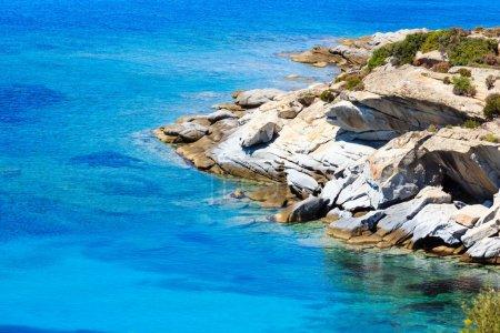 Photo for Summer sea coast landscape (Halkidiki, Sithonia, Greece). - Royalty Free Image