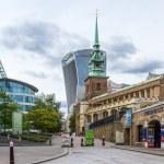 London  - September 05 2019: Big new buildings tow...