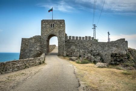 Castle entrance on the Kaliakra peninsular in northern Bulgaria