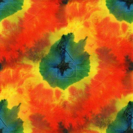 Photo for Bright seamless tie-dye pattern.  Hand painting fabrics - nodular batik. - Royalty Free Image