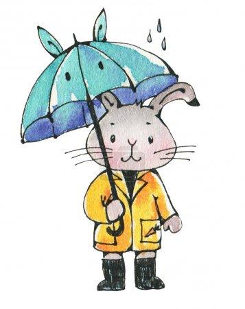 cute Bunny with umbrella