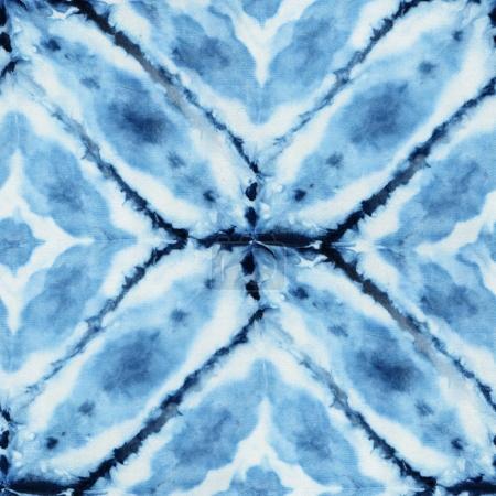 tie-dye pattern of indigo color
