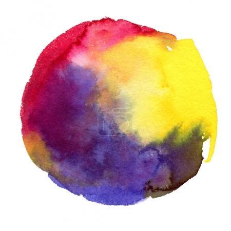 Bright watercolor spot