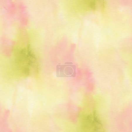 Abstract seamless pattern with watercolor spots in pastel colours.  Hand-drawn illustration.