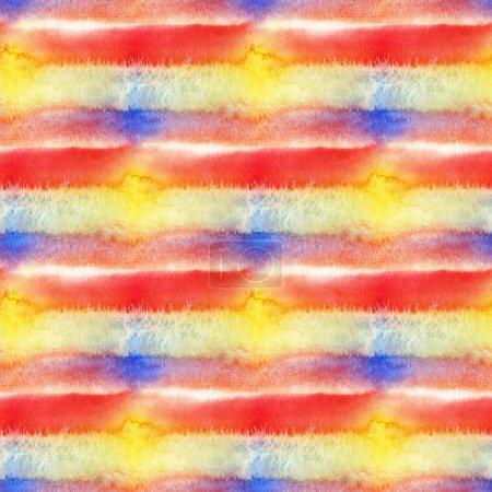 Foto de Resumen de patrones sin fisuras con manchas de acuarela. Ilustración de dibujado a mano. - Imagen libre de derechos