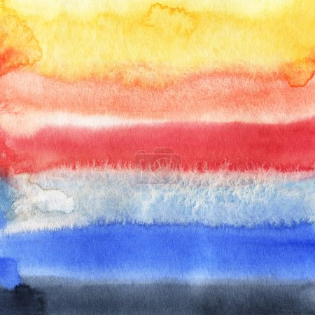 Photo for Watercolor background with colored spots.  Hand-drawn illustration. - Royalty Free Image