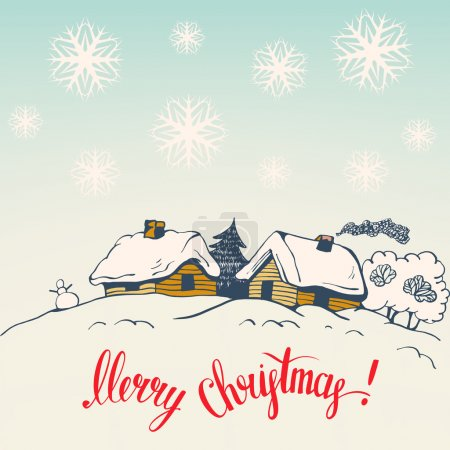 Christmas card in retro style