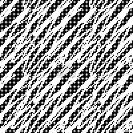 Illustration for Black and white seamless pattern, vector illustration - Royalty Free Image