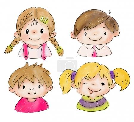 children doodle style
