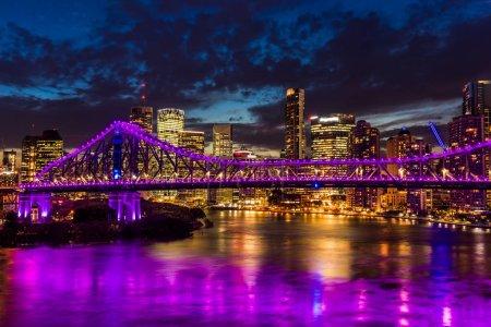 Brisbane city with Story Bridge