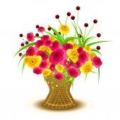 Valentýnské květiny kytice vektor