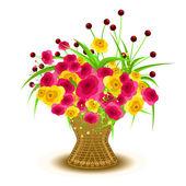 Valentine Flowers Bouquet Vector