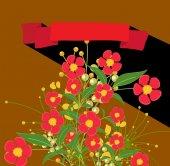 Red Flowers Valentine Background