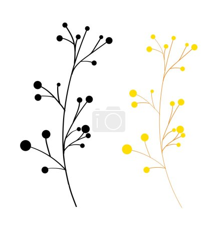 Vintage Dandelion Elements Vector Illustration...