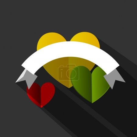 Info Graphic Hearts Banner