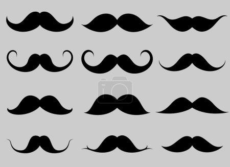 Moustaches Shapes Set