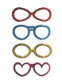 Drsný barevné fantazie brýle rámy