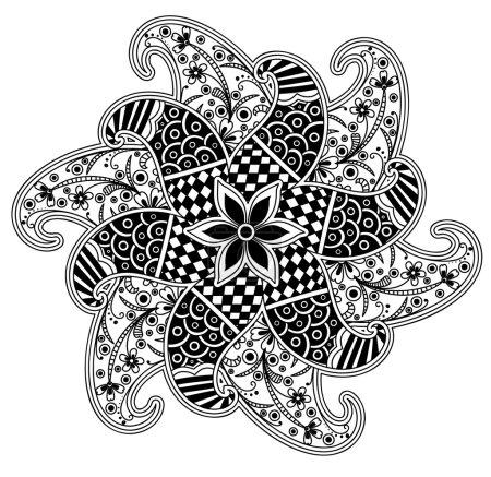 Illustration pour Illustration vectorielle d'art au henné artistique - image libre de droit