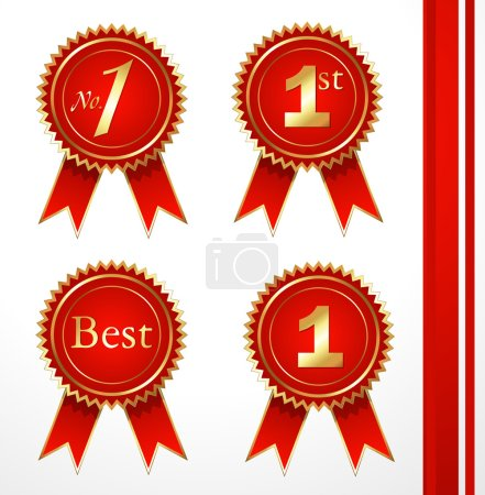 Reward Ribbon Badges Vectors