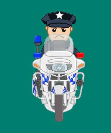 American Police on Bike