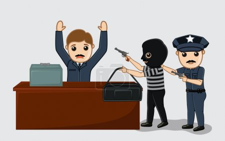Police Arrested a Robber Vector Concept