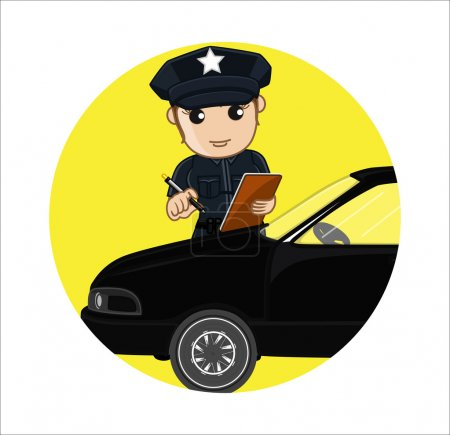 Meter Maid Issue Vector Concept