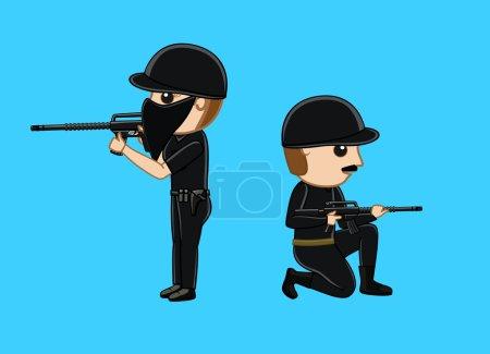 Commando with Guns