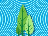 Trees Background Vector