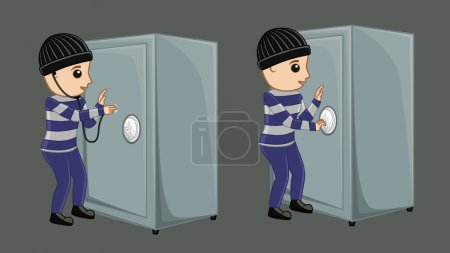 Robber Trying to Open Treasure