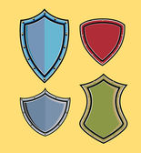 Variety of Retro Shields Vector Illustration