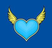 Flying Valentine Heart