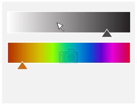 Color Palette with Slider Vector...