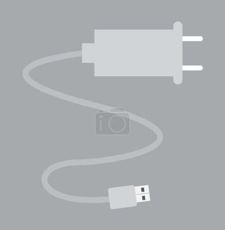 USB Power Cable Vector