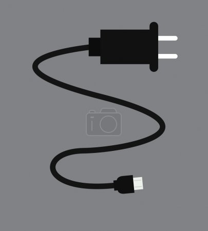 Mobile Charging Wire Vector