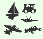Travel Transports Vector Silhouettes