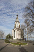 Temple in honor of the Cathedral of the Prophet and Baptist John on the Embankment of the Dnieper.