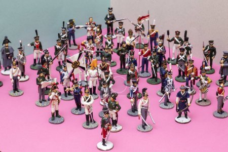 Photo for Figures of tin soldiers during the Napoleonic wars of 1812 - Royalty Free Image