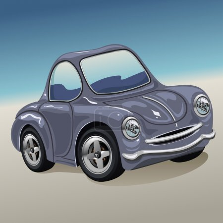 Illustration for A vector illustration of a Cartoon Car - Royalty Free Image