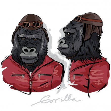Gorilla Dressed as Human Pilot